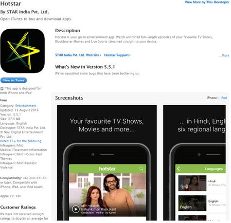 watch hotstar ipad ipod