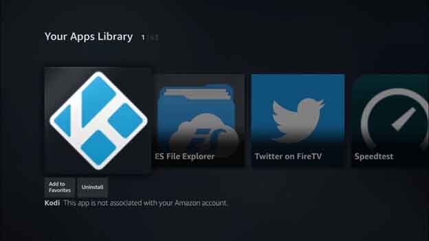 Go to your Apps Library and enjoy using Kodi
