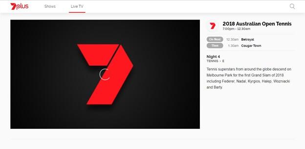 Unblock Australian Open 2018 on Seven Network