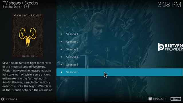 How to Watch Game of Thrones on Kodi