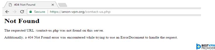 anon-vpn 404 not found