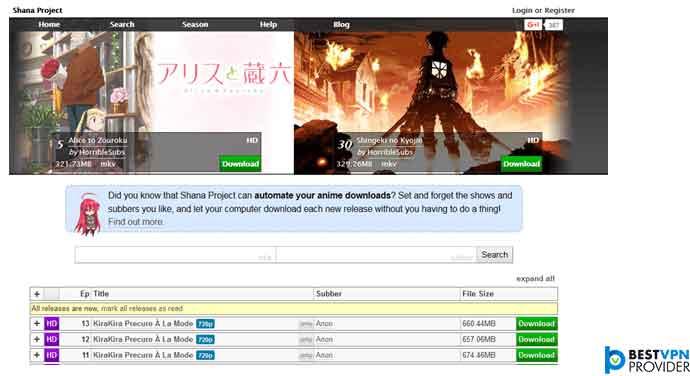 shanaproject.com is third nyaa alternative