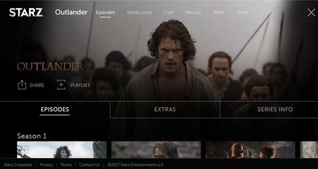How to Watch Outlander Using VPN on Starz App