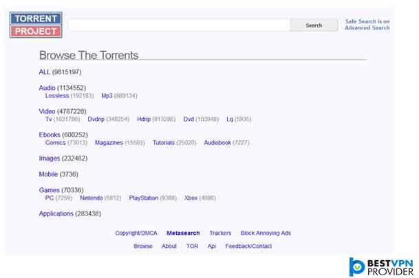 number 5 torrentz alternative is torrent project
