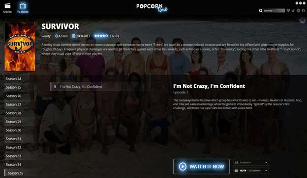 How to Watch Survivor Free on popcorn time