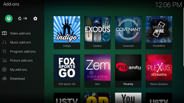 tubi tv kodi settings