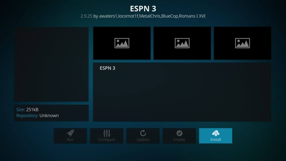 espn kodi settings