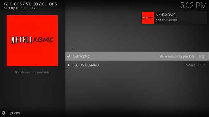 Enjoy using NetfliXBMC on Kodi LEIA