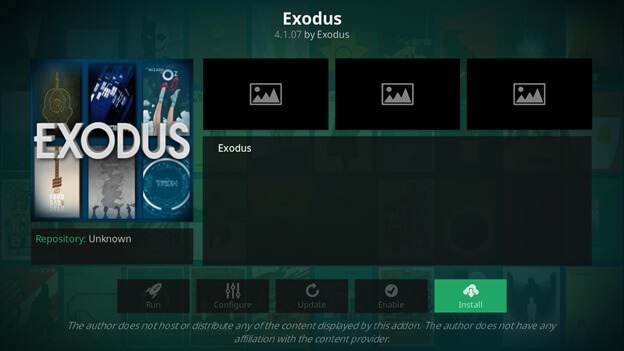 exodus kodi not working