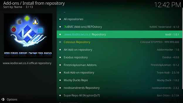 exodus kodi repository