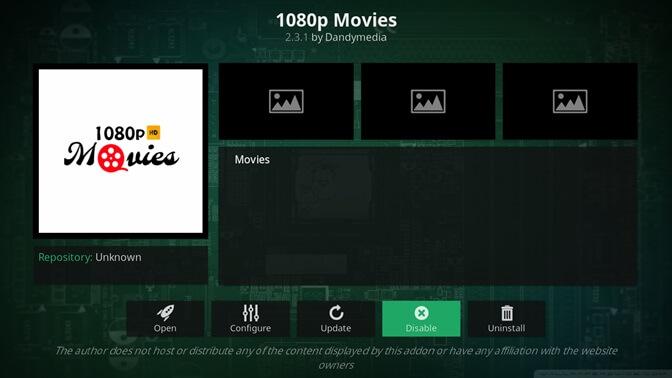 1080p Movies kodi addon