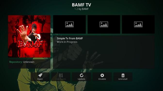 BAMF TV kodi addon