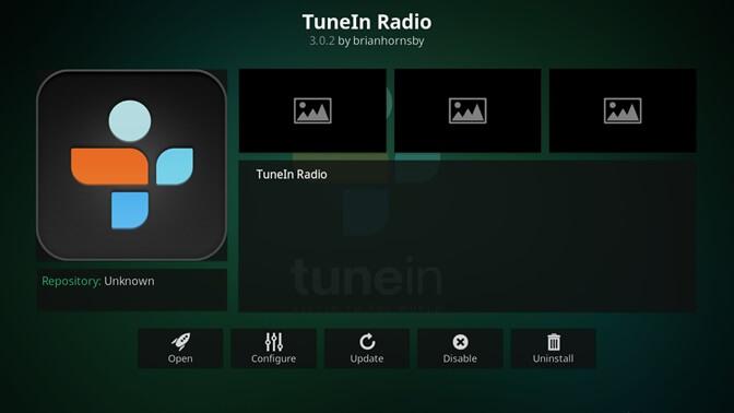 TuneIn Radio kodi addon