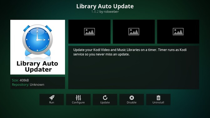 Library Auto Update kodi addon