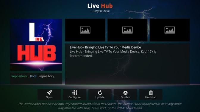 Live Hub kodi addon
