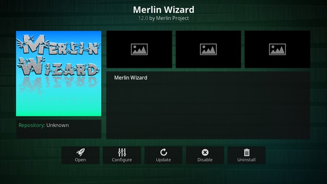 merlin wizard kodi addon