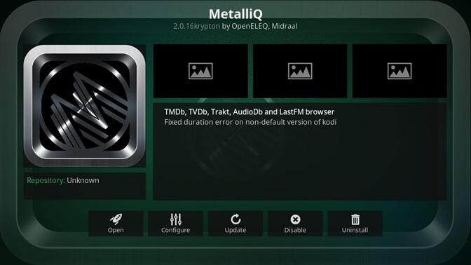 MetalliQ kodi addon