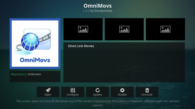OmniMovs kodi addon