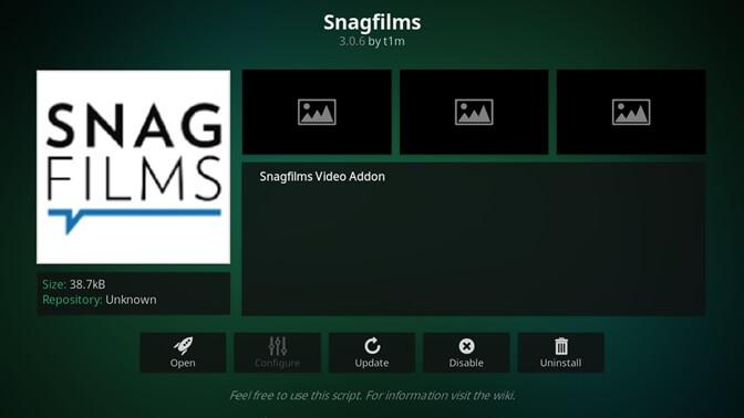 Snag Films kodi addon