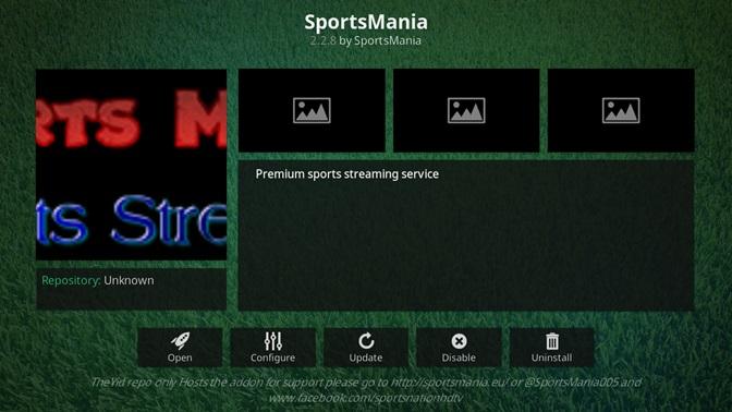 SportsMania kodi addon