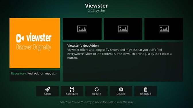 Viewster kodi addon