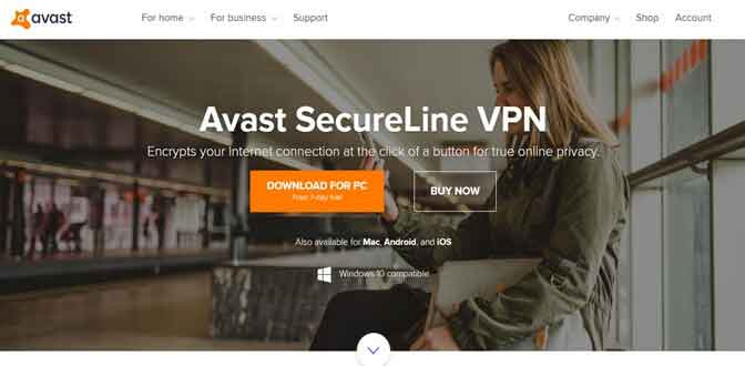 Avast SecureLine VPN is best vpn for windows 8 and 8.1