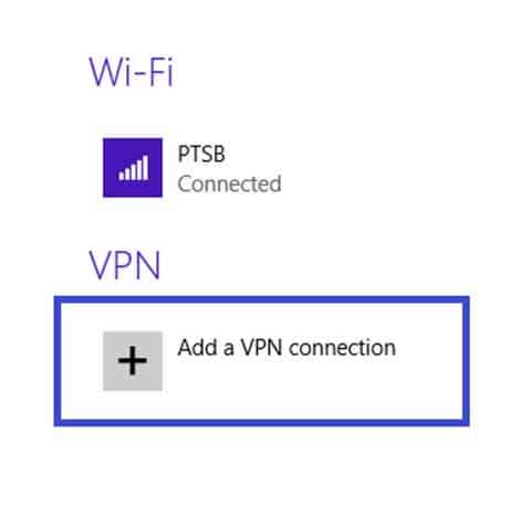 how to add windows 8 and windows 8.1 vpn