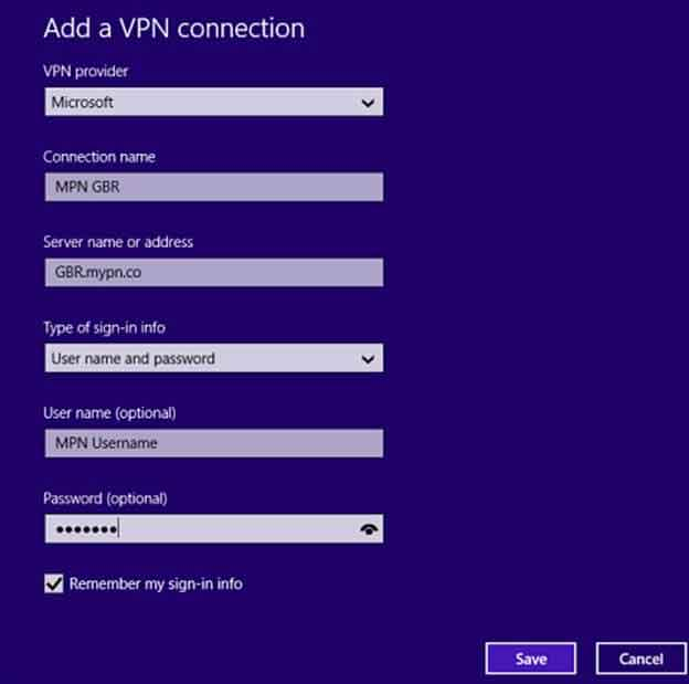 how to install windows 8 and windows 8.1 vpn