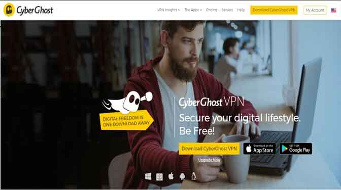 CyberGhost Vpn for Windows 10