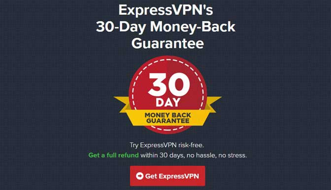 ExpressVPN Refund/Money Back Guarantee