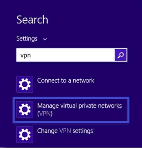 How to Setup Windows 8 and 8.1 VPN