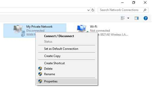 windows 8 and windows 8.1 properties vpn