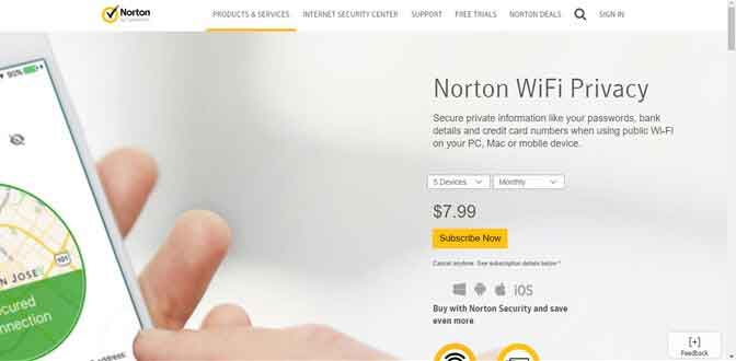 Norton Wi-Fi Privacy VPN for windows 8 and windows 8.1