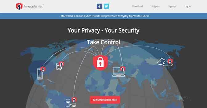 PrivateTunnel Free VPN for Windows 8 and 8.1