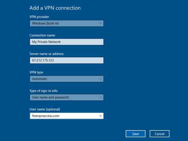 how to install windows 10 vpn