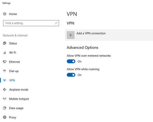 how to add windows 10 vpn