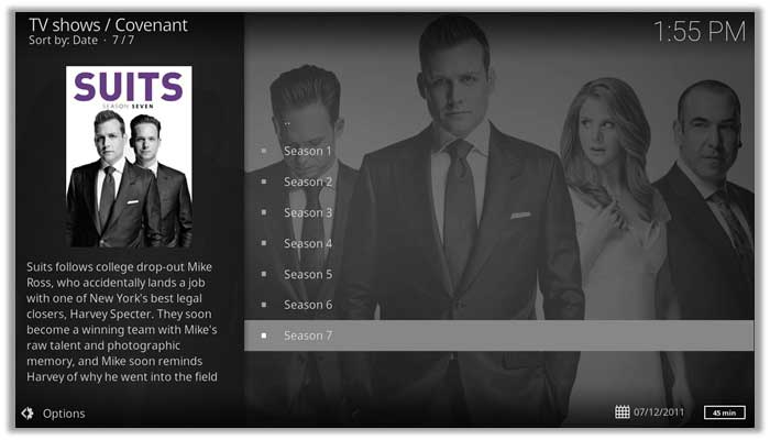 Watch Suits season 7 on Kodi