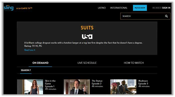 Watch Suits Season 7 on Sling TV