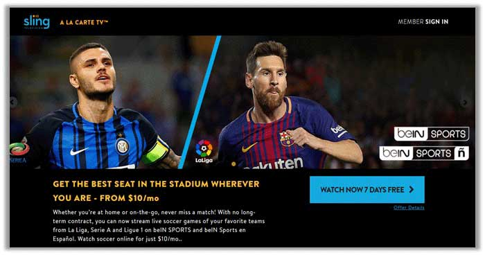 FIFA World Cup 2018 on SlingTV
