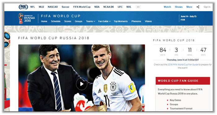 FIFA World Cup 2018 on Fox Sports Go