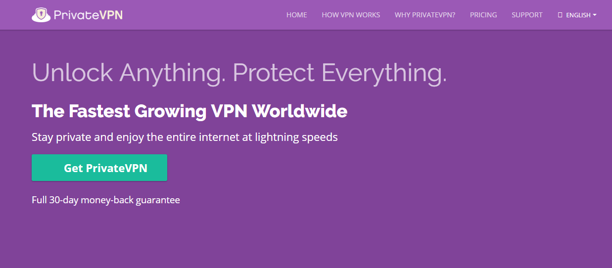 PrivateVPN for torrenting and p2p file sharing