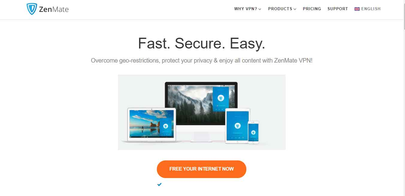 Zenmate VPN is also free worst for torrenting and p2p file sharing