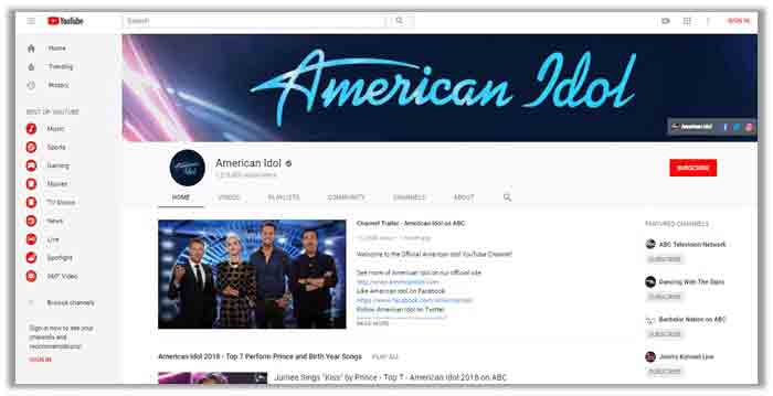 american idol youtube streaming