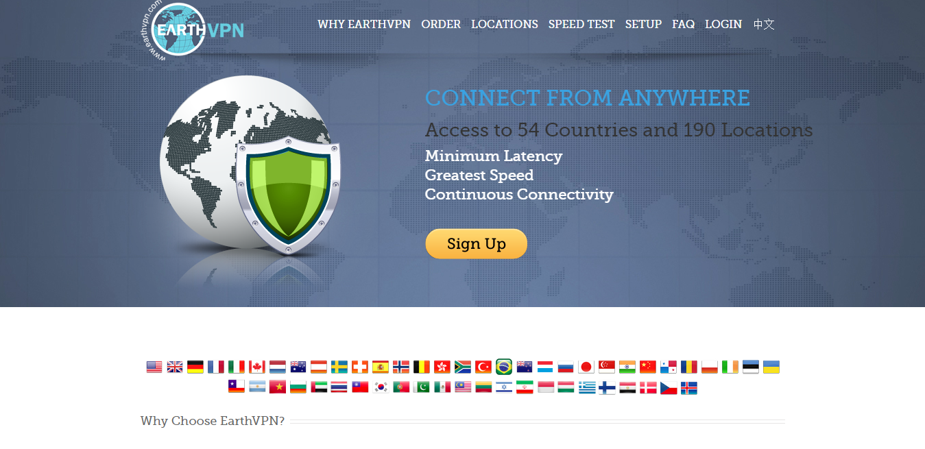 earth vpn for torrenting and p2p file sharing