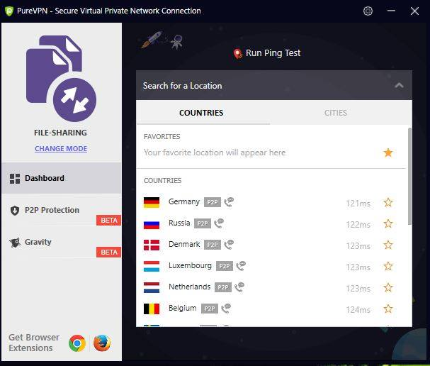 purevpn server for torrenting and p2p file sharing