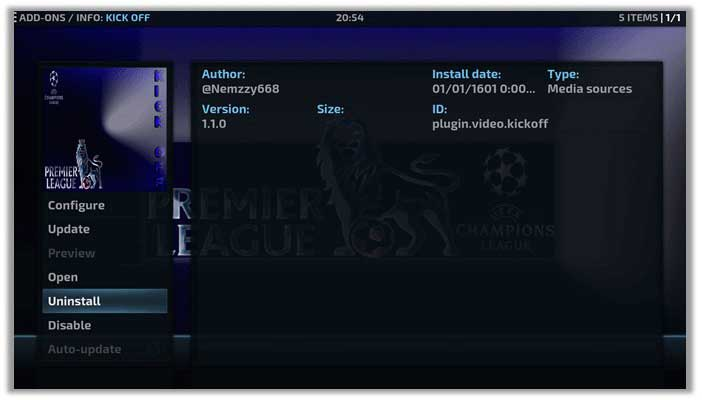 How to Watch FIFA World Cup 2018 on Kodi Jarvis Version 16 or Higher using Kick Off