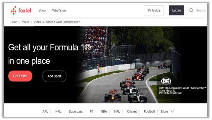 How to Watch Formula 1 in Australia
