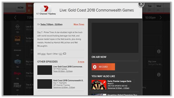 How to Watch Commonwealth Games 2018 in Australia