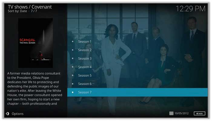 How to Watch Scandal on Kodi