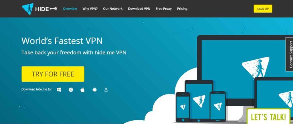 Hide.me VPN for Europe